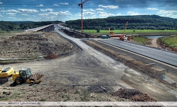 A 4 Autobahn refurbishment works