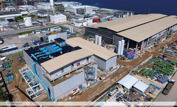 Concept aerial view of desalination plant Tuas 3