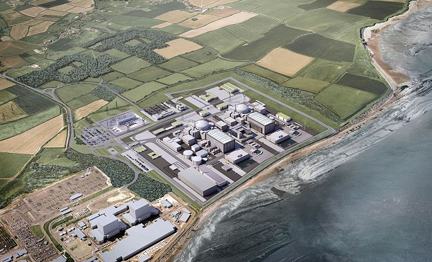 Hinkley Point C aerial view