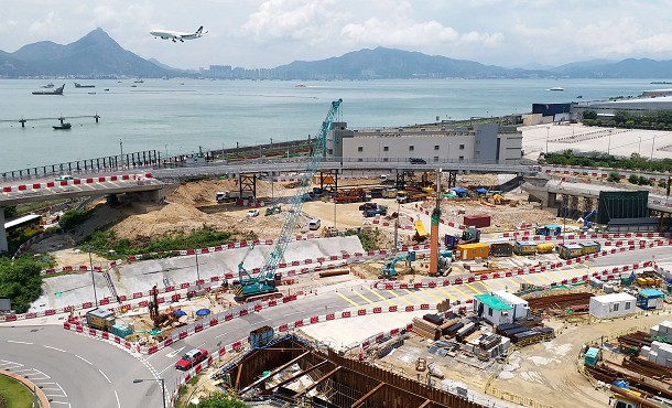 Construction on Hong Kong International Airport's Third Runway System